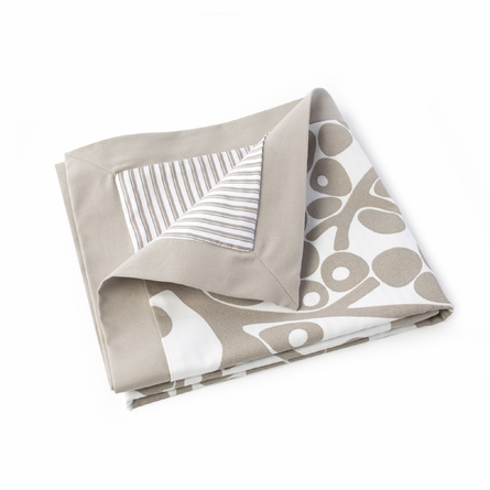 Modern Berries Motif Three-Piece Crib Set in Taupe