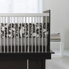 Modern Berries Motif Three-Piece Crib Set in Tree Trunk Brown