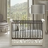 Modern Berries Patterned Crib Skirt in Taupe