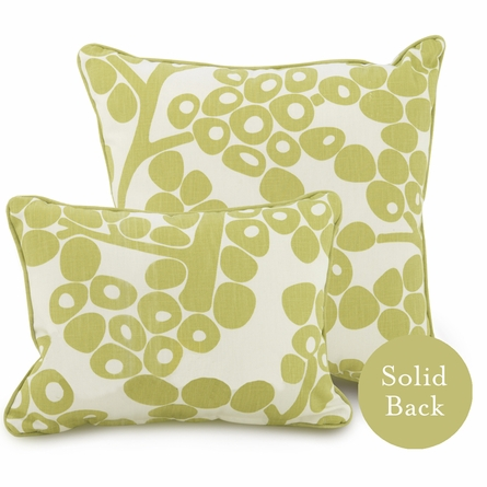 Modern Berries Throw Pillow in Spring Green