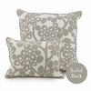 Modern Berries Throw Pillow in Taupe