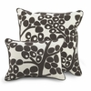 Modern Berries Throw Pillow in Tree Trunk Brown