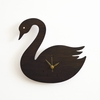 Modern Black Swan Wall Clock