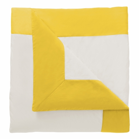 Modern Border Duvet Cover in Citrine