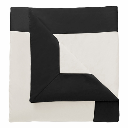 On Sale Modern Border Duvet Cover in Ink - Full/Queen
