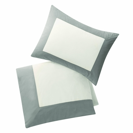 Modern Border Duvet Set in Smoke
