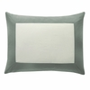 Modern Border Pillow Sham Pair in Smoke