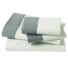 Modern Border Sheet Set in Smoke