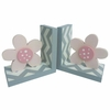 Modern Flower Chevron Bookends