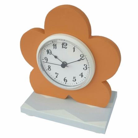 Modern Flower Chevron Table Clock