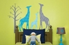 Modern Giraffe Blue Peel & Place Wall Stickers