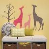 Modern Giraffe Pink Peel & Place Wall Stickers
