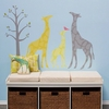 Modern Giraffe Yellow Peel & Place Wall Stickers