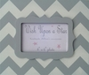 Modern Gray Chevron with Gray Scallop Frame