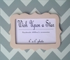 Modern Gray Chevron with Pink Scallop Frame