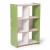 Modern Green and White 6 Cubby Shelf