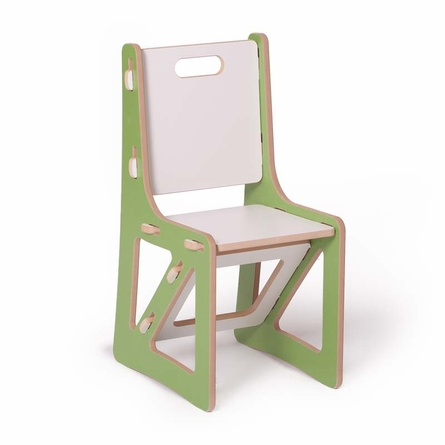 Modern Green and White Kids Chair Set