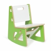 Modern Green and White Kids Rocking Chair