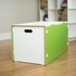 Modern Green and White Toy Box