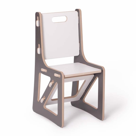 Modern Grey and White Kids Chair Set