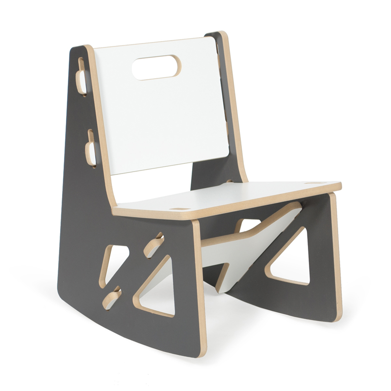 Modern Grey And White Kids Rocking Chair By Sprout Kids