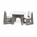 Modern Grey and White Kids Table and Chair Set
