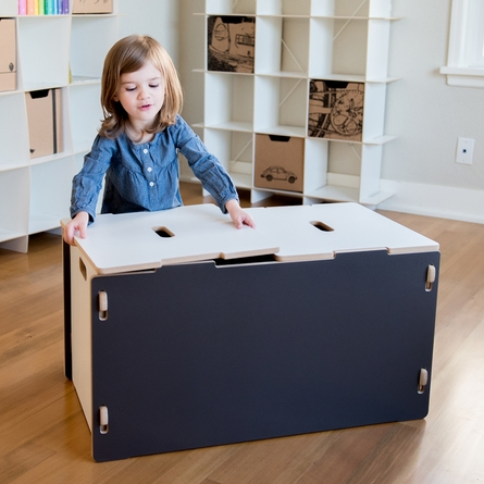 Modern Grey and White Toy Box
