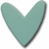Modern Heart Aqua Drawer Pull