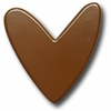 Modern Heart Chocolate Drawer Pull