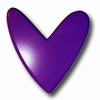 Modern Heart Dark Purple Drawer Pull