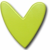 Modern Heart Lime Drawer Pull