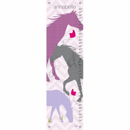 Modern Horses in Purple Growth Chart
