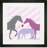 Modern Horses - Purple Framed Art Print