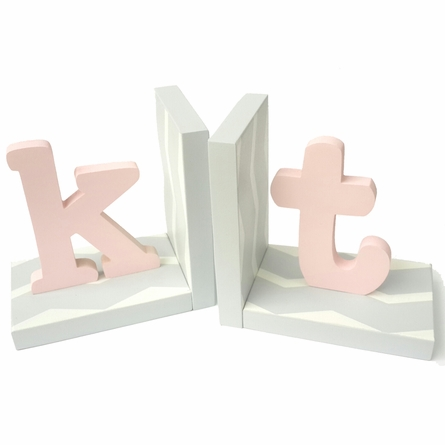 Modern Initial Chevron Bookends