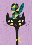 Modern Kitty Canvas Wall Art