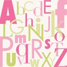Modern Letters Pink & Green Canvas Wall Art