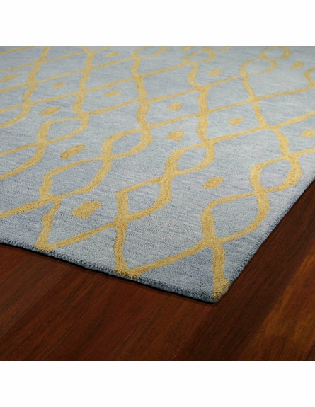 Modern Lines Casablanca Rug in Light Blue