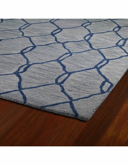 Modern Links Casablanca Rug in Blue