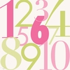 Modern Numbers Pink & Green Canvas Wall Art
