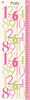 Modern Numbers Pink & Green Growth Chart