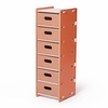 Modern Orange and White 6 Drawer Organizer