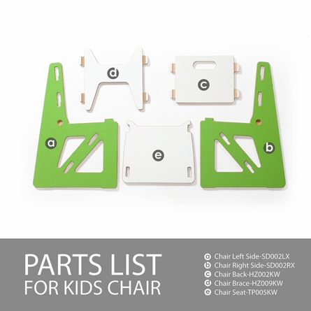 Modern Orange and White Kids Chair Set