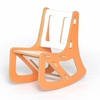 Modern Orange and White Kids Rocking Chair