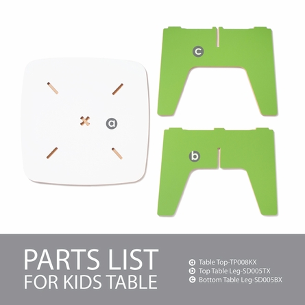 Modern Orange and White Kids Table