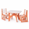 Modern Orange and White Kids Table and Chair Set