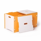 Modern Orange and White Toy Box