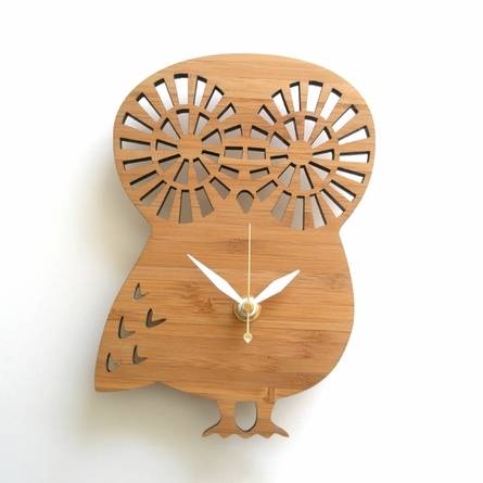 Modern Owl Wall Clock