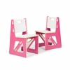 Modern Pink and White Kids Chair Set