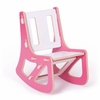 Modern Pink and White Kids Rocking Chair