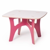 Modern Pink and White Kids Table